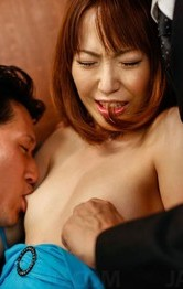 Double Anal Fisting - Nonoka Kaede Asian rubs and sucks tools before double teaming