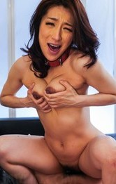 Marina Matsumoto squeezes her assets while having asshole fucked